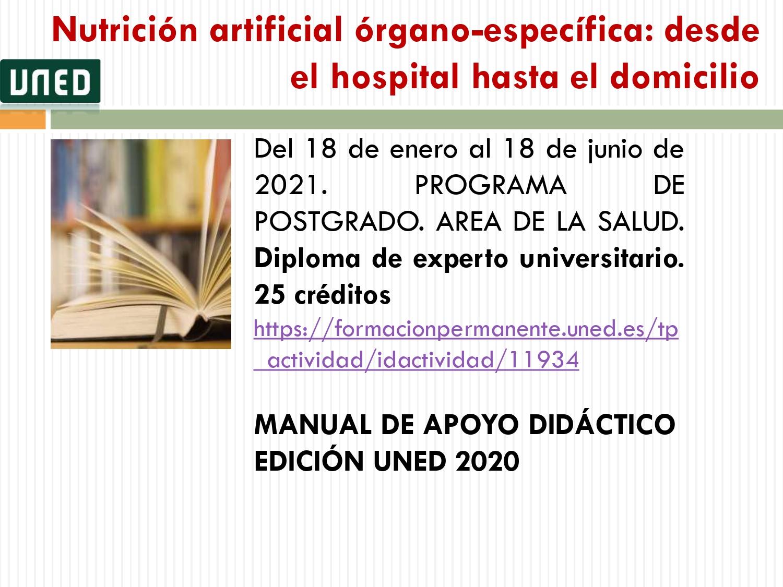 Formacion Cursos Uned Sobre Nutricion Y Dietetica Facultad Enfermeria Valladolid